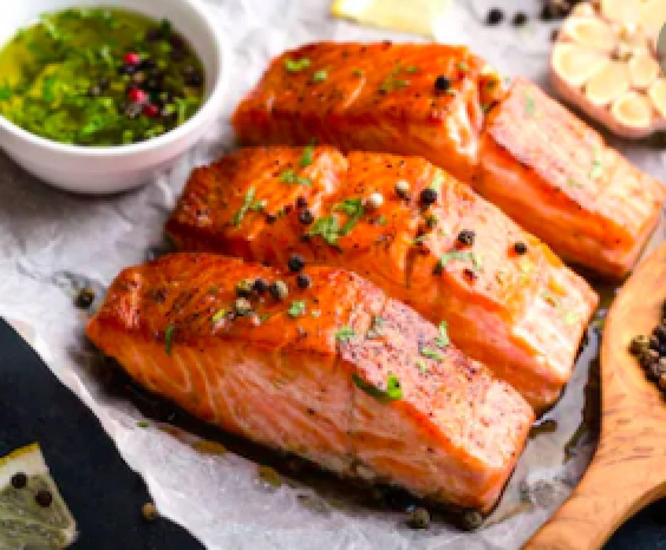Keto Friendly Garlic Caper Butter Salmon