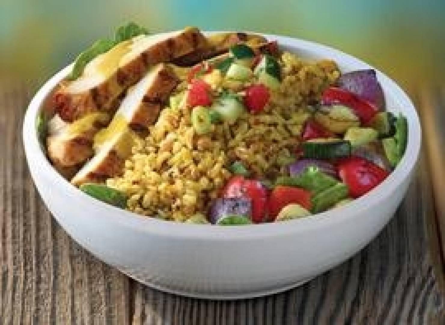 Mediterranean Grain Bowl with Chicken