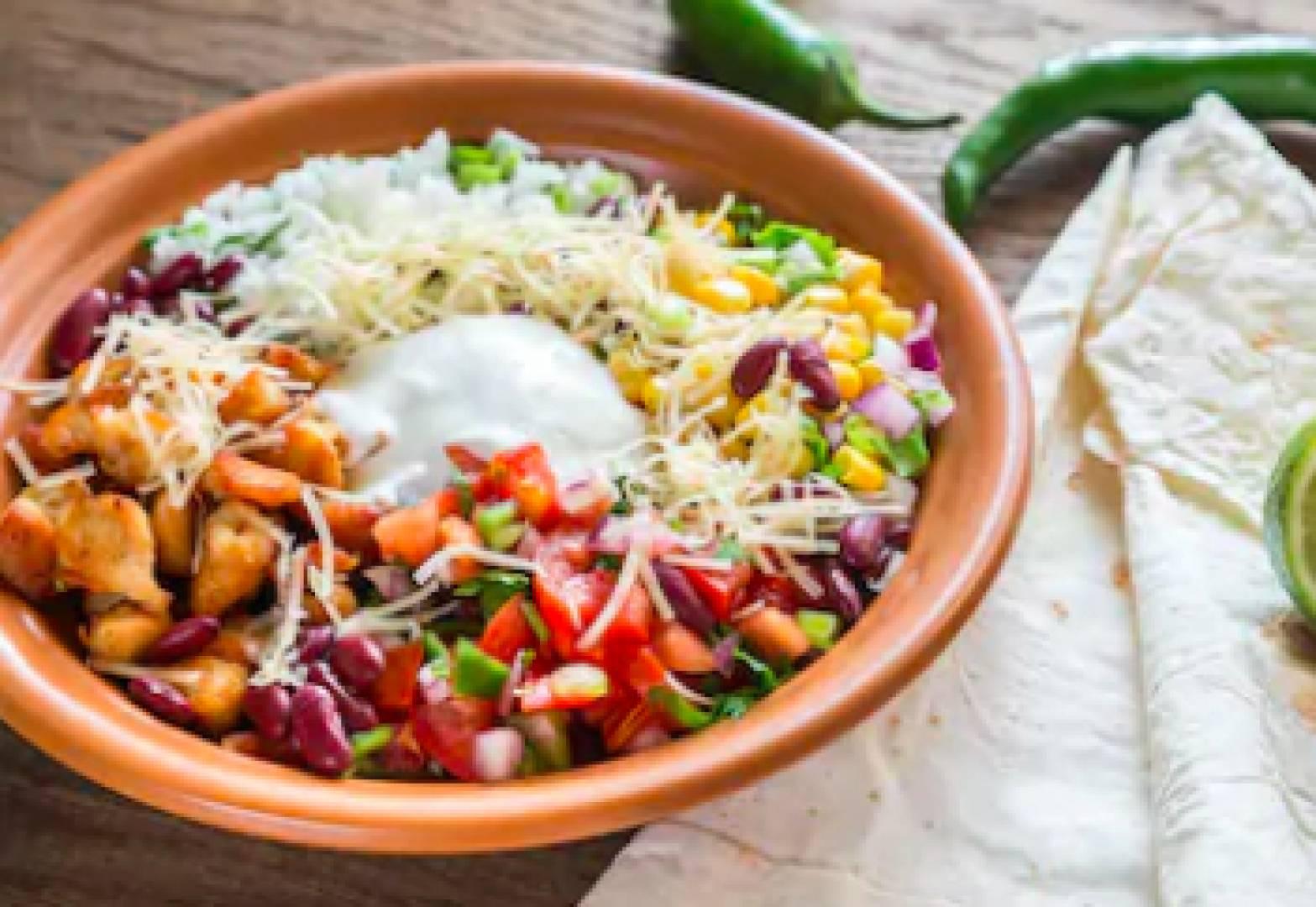 Unwrapped Burrito Bowl