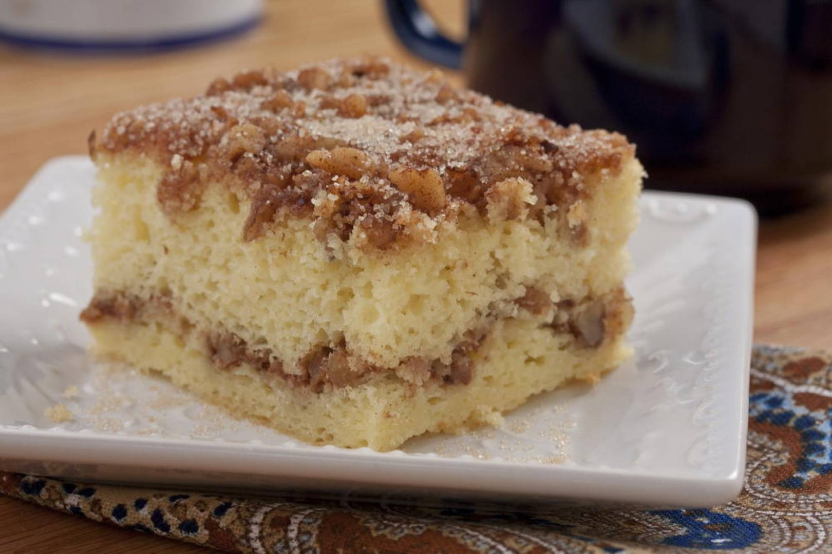 Cinnamon & Sour Cream Coffee Cake