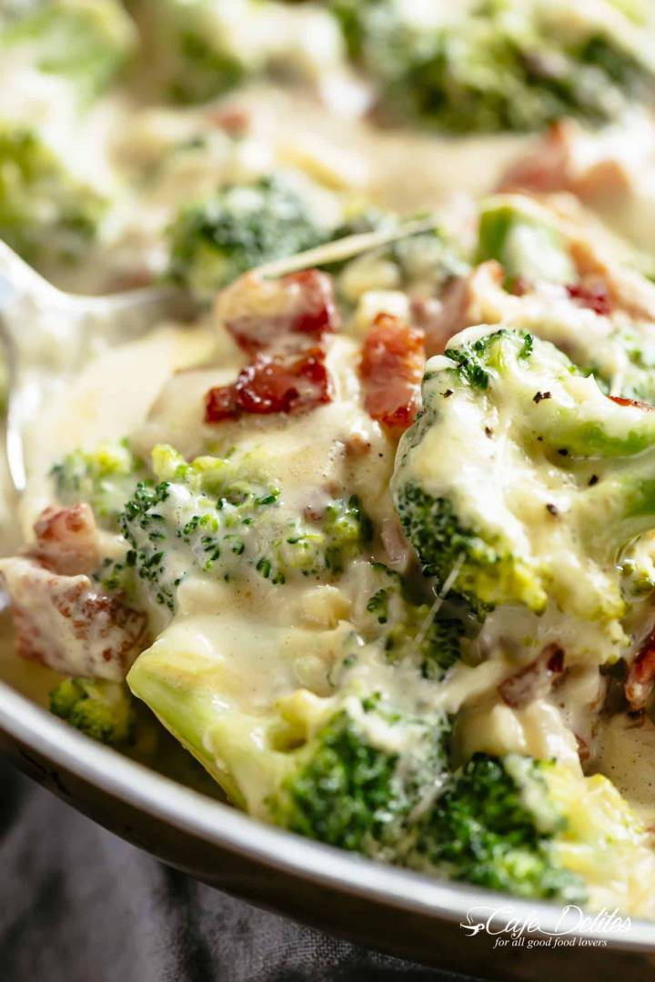 Creamy Broccoli with Bacon Snack