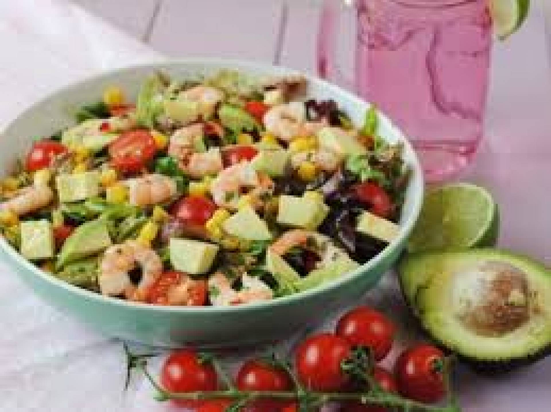 Greek Salad with Prawns