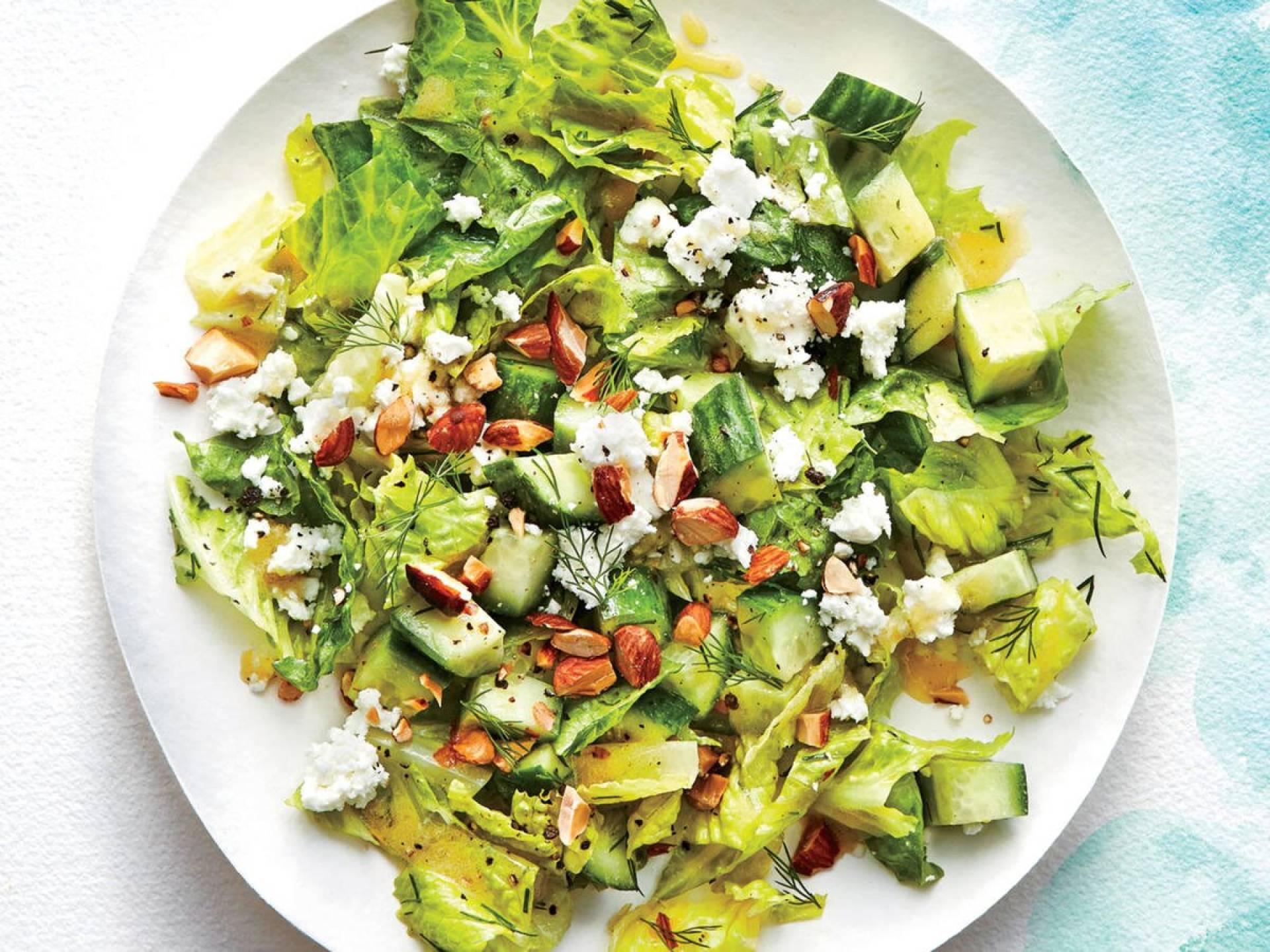 Crunchy Romaine Salad with Prawns